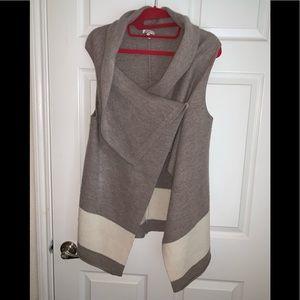 Joie wool sleeveless water fall vest cardigan